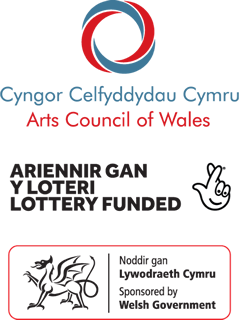 Arts Council of Wales Lottery funded logo